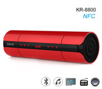 KR8800 Altoparlante Bluetooth NFC Display a LED Altoparlanti vivavoce FM Subwoofer stereo senza fili Soundbox MP3 per smartphone PC