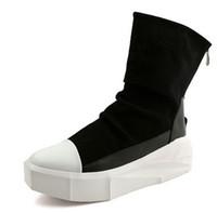 cfd043a33416a0 New Owen Hommes 8 cm Hauteur Bottes Plate-forme Augmentant Retour Zip  Chaussures En Cuir Couleurs Mixtes Homme Y3 Haut Top Noir Blanc Bottes  Casual Hommes