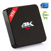 Wholesale tv media streaming resale online - H96 Android TV Box RK3229 Quad Core GB GB K G WiFi Bluetooth Smart OTT DLNA Set Top Box Streaming Media Player VS MXQ M8S A95X