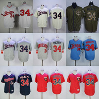 Wholesale Navy Kids Shorts - Factory Outlet Mens Womens Kids Toddlers Minnesota Twins 34 Kirby Puckett Beige Green Grey Red Navy Flex Cool Base Stitched Baseball Jerseys