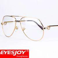Wholesale Mens Reading Glasses - Pilot Mens Glasses Gold Frames Brand Designer glasses for men Fashion Reading glasses Luxury style With Original Red Box CT1324912EG Eyesjoy