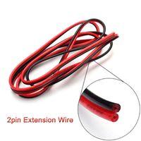ingrosso 4pin rgb led-Wholesale-LED 2M ~ 100M pin 2pin pin 4pin filo di prolunga filo, 22 awg filo, RGB + cavo filo connettore bianco per 3528 5050 LED Strip