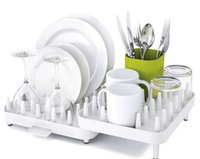 Wholesale Double Dish Rack - Hot Sales Adjustable Cutlery Dishes Rack Draining Tableware Storage Holder Rack