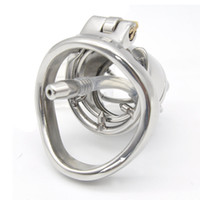 Wholesale male chastity smaller cage - Small New Male Chastity Devices Stainless Steel Chastity Belt CD097-3