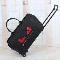 Wholesale Wheeled Bag Foldable - 2017 Free shipping Famous brand big capacity woman handbags oxford foldable travel bag with wheels luggage bags luxury designer handbags
