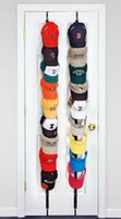 Sundries packing organizers - Baseball Cap Holder hat Hang up Organizer Cap Display Rack Over Door Hat Bag Clothes Rack Holder pack to hold caps with retail box
