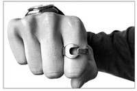 Wholesale Spanner Jewelry - Opening Adjustable Size Motorcycle Spanner Wrench Ring Titanium Polishing Vintage Unisex Lovers Finger Rings Couple Jewelry
