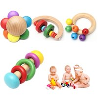 Brand New Kid Baby Деревянный колокол Rattle Toys Handbell Musical Educational Percussion Instrument Development Игрушка Смешной дизайн