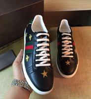 Wholesale Hip Hop Shoes For Men - Sales New famous Brand Men Shoes Genuine Leather Skull Hip Hop Men Casual Shoes Big Size 36-44 Shoes For Men Black White