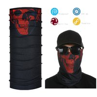Venda por atacado - Microfibra Multi Purpose Skull Face Shield Bandana