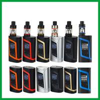 Wholesale Electronic Cigarettes Mods - Original Smok Alien Kit 220W 3ml TFV8 Baby Tank vaporizer electronic cigarette Vape Kit Mod vs Smok G-priv No 18650 Battery SK01