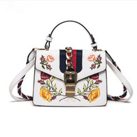 Wholesale hand bag flowers lady for sale - Women Hand Bag Flowers Designer PU Shoulder Bags Fashion Messenger Lady Crossbody Luxury Handbags Women Bags