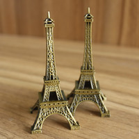 Wholesale Eiffel Tower Metal Model - Metal Eiffel Tower Model Paris Tower Figurine Craft Home Decoration Gift Box Packing 25cm DHL Shipping Free