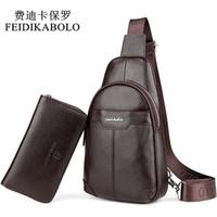 Wholesale Bag Mens Cowhide - Fashion Cowhide Chest Pack Genuine Leather Mens Messenger Bag Male Crossbody Mobile Bags Brand Men's Shoulder Bag