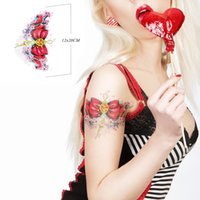 Wholesale New Fashion Body Art Beauty Makeup Red Bow Waterproof Temporary Tattoo Stickers Sexy Products Arm Tattoos