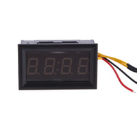 Wholesale Motor Clocks - Wholesale-4 Digit 0.4inch Red LED Digital Electronic Clock for Car Motorcycle Motor