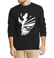 Wholesale White Ichigo - Wholesale-BLEACH anime Kurosaki Ichigo sweatshirt hip hop style 2016 new autumn winter fashion men hoodies streetwear fleece clothing