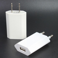Wholesale Plug For Cellphone - Wall Charger US EU Plug Real 5V 1A High Quality Universal for iPhone Cellphones 100pcs lot