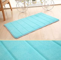 Wholesale Memory Foam Top - Top Selling 40x60cm Bath Mat Bathroom Bedroom Non-slip Mats Memory Foam Rug Shower Carpet for Bathroom Kitchen CD002