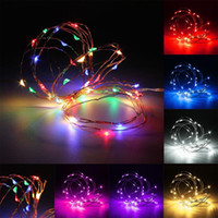Mising bateria operada 2M / 3M / 4M Multicolor LED Mini LED Copper Wire String Fairy Lights Christmas Weeding Party Decor DC3V