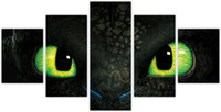 Wholesale Dragon Sheets - 2017 New product Miniatures Best Art Movie Poster How To Train Your Dragon Canvas painting big green eye designs canvas art