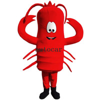 Wholesale cotton shrimp resale online - Marine shrimp free in Mascot Costume Christmas Halloween Christmas cartoon party with adult Size