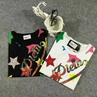 Wholesale women s fashion print alphabet philipe stat blingbling tee cotton lycra foreignT shirt