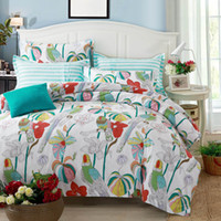 Wholesale New Bedding Set Duvet Cover Sets Bed Sheet European garden fresh Style Adults Bedroom Sets Queen Size Cotton Bedlinen