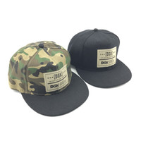 Wholesale Mens Camo Sun Hats - DGK Fashion Snapback Mens Camouflage Snapback Hats Adjustable Camo Baseball Caps Hip Hop Hat