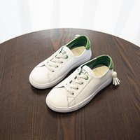Koovan Children's 2017 Summer Autumn New Tide Niños Real Leather Little White Zapatos de las niñas transpirable Boys Sneakers Leisure Board Shoes