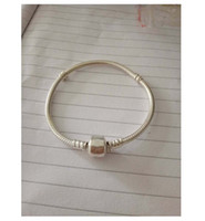 Wholesale China Zodiac - 2017 Original 100% 925 Sterling Silver Snake Chain Vintage Clip Bracelet Fit European pandora Charm Beads Authentic DIY Jewelry Gift