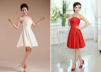 Wholesale White Korean Mini Wedding Dress - the New explosion temperament hot toast Korean fashion bride wedding bridesmaid dress group short dress sister group