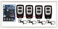 Wholesale Waterproof 12v Remote Control Switch - Wholesale- New DC12--48V 12V 24V 36V 48V 1CH 10A RF Wireless Remote Control Switch System teleswitch 4*waterproof Transmitter + 1 *Receiver