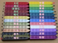 Wholesale Wax Stamps - Wholesale- multicolor Sealing wax seal wax stick 24 color available use for wax stamp materials
