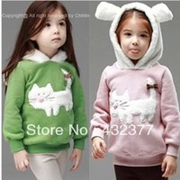 Wholesale Girls Clearance - Wholesale- clearance Autumn and winter children fashion cute rabbit pattern sweater kids outerwear coats girls clothing
