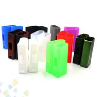 Wholesale Evic Casing - Colorful Evic VTC Dual Proect Case Soft Silicone Rubber Carry Bag Cover for evic VTC dual TC Box Mod Protective Skin DHL Free