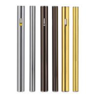 Wholesale Empty Electronic Cigarette - Flat cbd electronic cigarette o pen wax 200puffs ceramic coil for thick oil thc concentrate vaporizer BHO 0.5ml disposable empty vape pen
