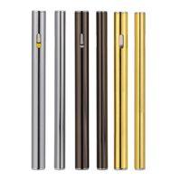 Wholesale Disposable Flats - Disposable electronic cigarette empty vape pen Flat green oil electronic cigarette 260puffs ceramic coil for thick oil concentrate vaporizer
