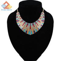 Wholesale statement necklaces online - Maxi Necklace Collares Vintage Statement Necklaces Pendants for Women Bijoux Fashion Enamel Choker Collier Kolye Jewelry