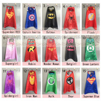 Wholesale Black Halloween Capes - Superhero Capes and masks for kids birthday party favor Costume and Cosplay for superhero party