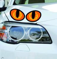etiquetas dos olhos de gato venda por atacado-10 * 8 cm adesivos de carro cat eye capa decalque / anti scratch para o corpo luz frente frente porta traseira bumper janela espelho retrovisor