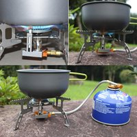 Aprons outdoor cleaning equipment - New foldable barbecue outdoor stove Mini ultralight Split Gas Stove camping BBQ cooking equipment
