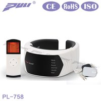 Wholesale Cervical Treatment - New Puli Far Infrared Therapy Electric Cervical Vertebra Treatment Wireless Remote Control Neck Massager Magnetic Instrument Health Care