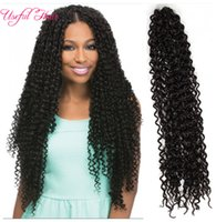 Wholesale hair weave uk for sale - Group buy quot curly weaves Freetress curly crochet hair water wave synthetic twist hair extension UK US braiding hair havana twist