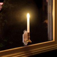 Wholesale White Window Panels - Solar Powered Led Bulb Lamp Solar Candle With Panel Indoor Decorative Lighting On Window Fashion Flick Candles 2 Modes BeTwinkle