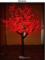 Wholesale Cherry Light Tree Green - LED Christmas Light Cherry Blossom Tree Light 960pcs LEDs 6ft 1.8M Height 110VAC 220VAC Rainproof Outdoor Usage Drop Shipping