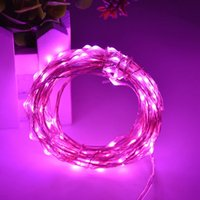 Wholesale Wholesale Wire Balls - 50pcs 10M 100Led Silver Wire Copper Wire mini String Fairy Lights Fairy String Lights lamp for wedding Christmas Holiday Party