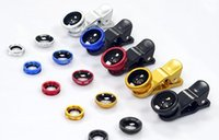 Wholesale iphone glass lens color resale online - Phone in Universal Fish Eye Wide Angle Macro Fisheye Lens With Clip For Apple iphone Samsung All Cellphone High Quality Glass
