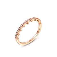 Wholesale Pattern Ruler - ROXI Brand Ring For Women New Fashion Ladies Ring Rose Gold Plated Ruler Shape Pattern Ring For Weeding Party Gift