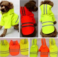 Wholesale Raincoat Cap - New pet raincoat fluorescence trichromatic pet with cap dog raincoats Waterproof Spring and Summer pet clothes fashion dog raincoats I069